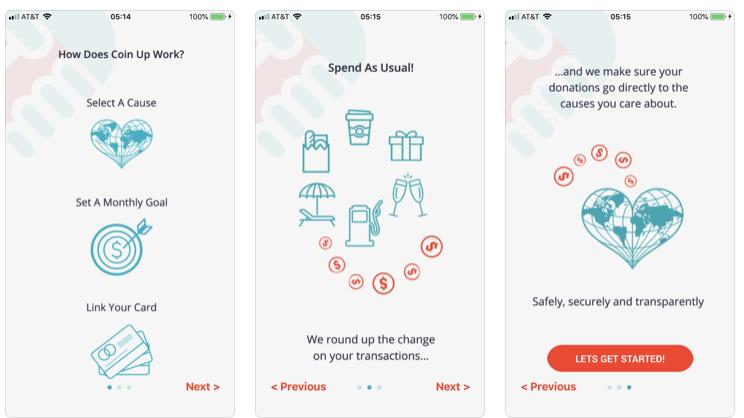 inventar aplicativo de caridade