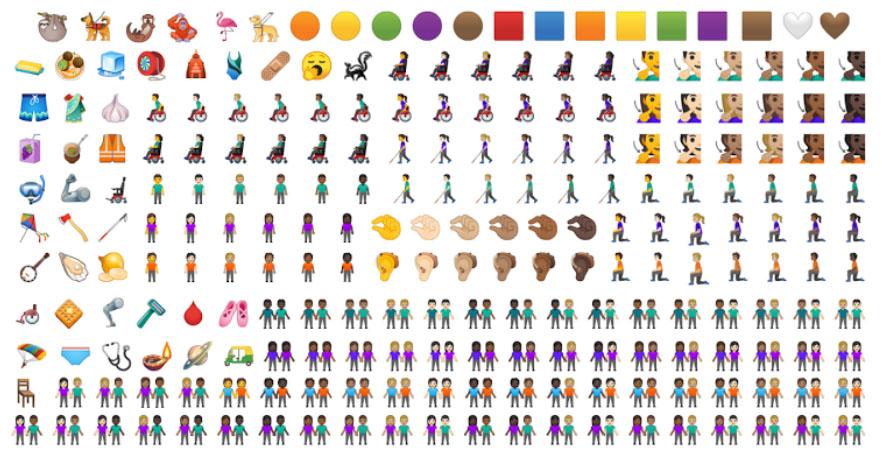 emojis que são mais inclusivos de gênero e raça
