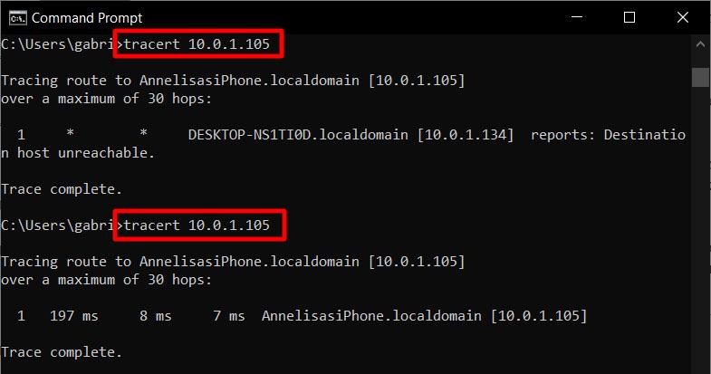 tracert iphone
